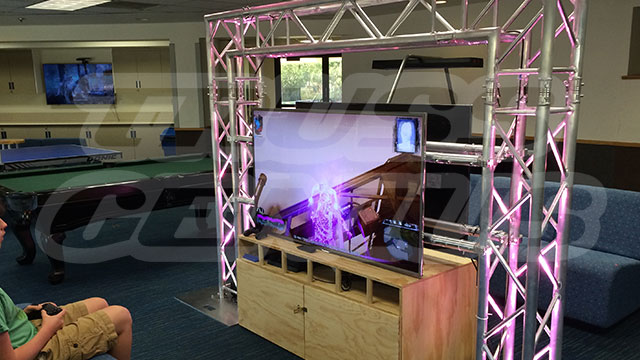 LED TV Truss Entertainment System, entertainment truss system, led tv truss mount