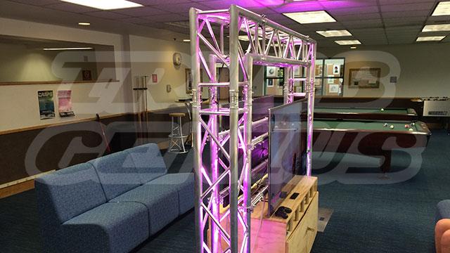 LED TV Truss Entertainment System, global truss led tv system, tv truss system