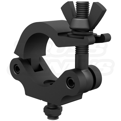 Black Narrow Pro Clamp   2-Inch 50mm Medium Duty Wrap Around Truss Clamp That Can Fasten Between The Diagonal Crossbars of Your Trussing CJS5004B