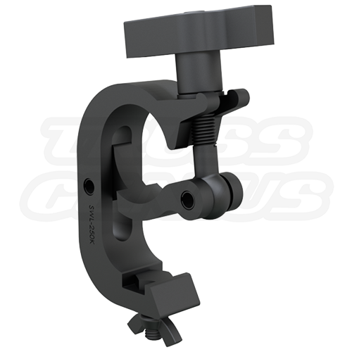 Black Trigger Clamp 2-Inch Hook Style Clamp With Large T-Handle Makes Hanging Your Lighting Fixtures A Breeze | 50mm Black Truss Clamp CJS5008B