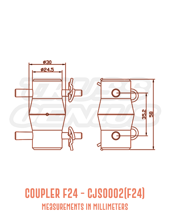 Coupler F24 CJS0002(F24) Detailed Drawing