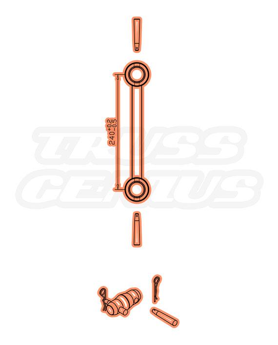 IB-4050-1250 F32 I-Beam Truss Dimensions