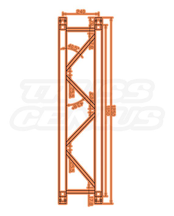 IB-4050-1250 F32 I-Beam Trussing Measurements
