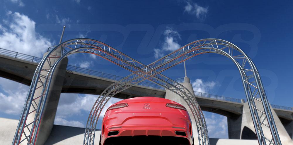 Vehicle Truss Display, Auto Truss Display