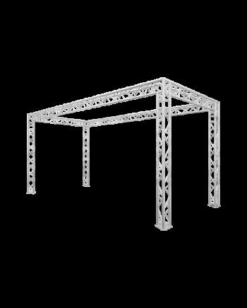 10' x 20' Truss Trade Show Booth - Modular F33 Triangular Truss System