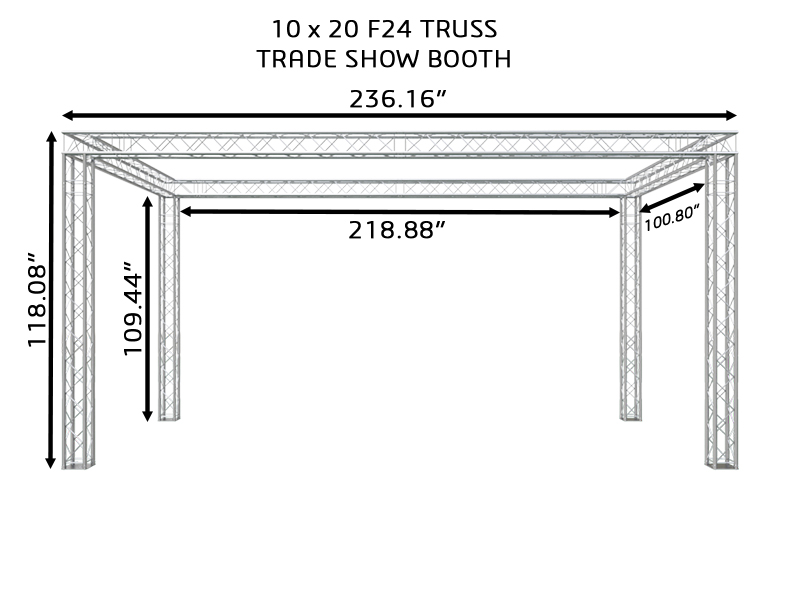 10X20 F24 TRUSS TRADE SHOW BOOTH DIMENSIONS