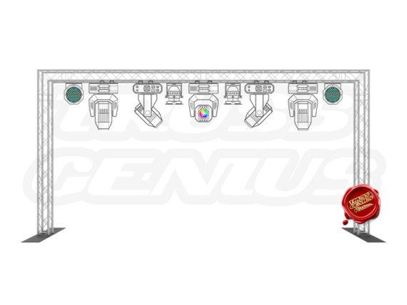 10x20 Goal Post Truss System F24 Square Truss