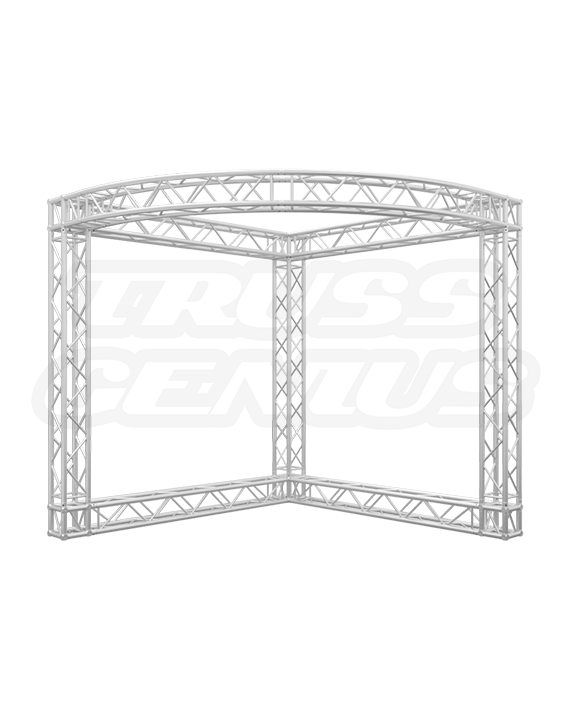 10' x 10' Truss Trade Show Booth with Circular Front - Modular Truss Booth