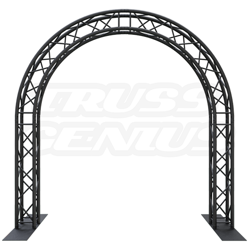 Goal Post F34 Square Truss System Circular Arch 10x10 Matte Black Powder Coat