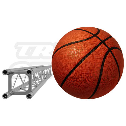 F14 Square Truss Relative Size Compared To A Basketball