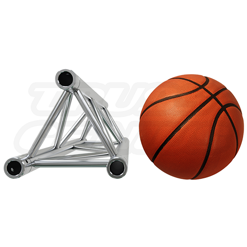 F33 Triangular Truss Relative Size Compared To A Basketball
