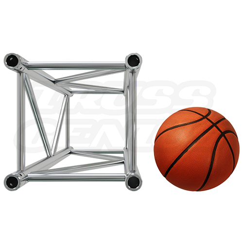 F44P Square Truss Relative Size Compared To A Basketball