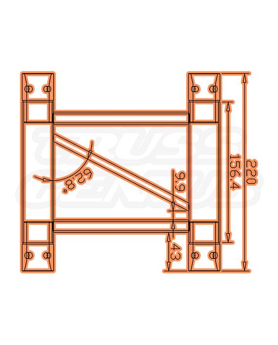 SQ-F24-22 F24 Square Truss Measurements