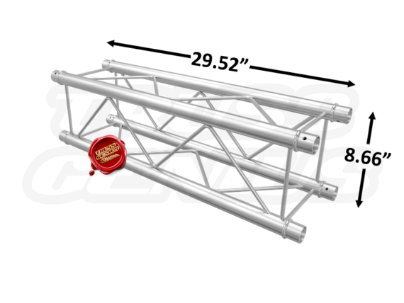 SQ-F24075 F24 Square Aluminum Truss Dimension F24075