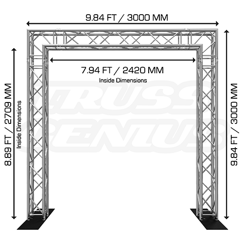 Goal Post F34 Square Truss System 10×10