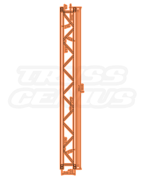 SQ-4114 Measurements F34 Square Trussing