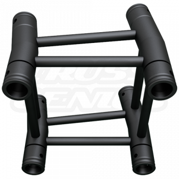 SQ-4121-7.5 Black Global Truss 2-Way 7.5-Degree Fixed Angle Corner Matte Black F34 Square Truss