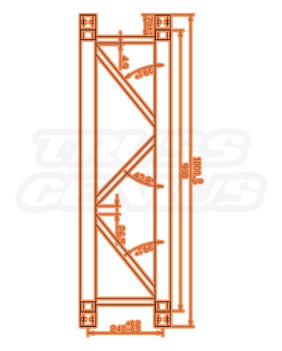DT-4110P Measurements F34P Square Trussing