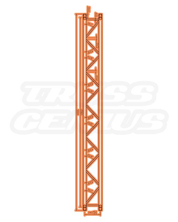 IB-4053 F32 I-Beam Trussing Measurements