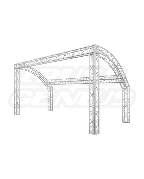 10' x 20' Truss Trade Show Booth - Half Dome F34 Square Truss Display