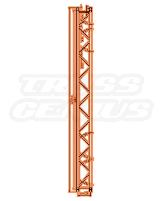 TR-4082 Dimensions F33 Triangle Truss