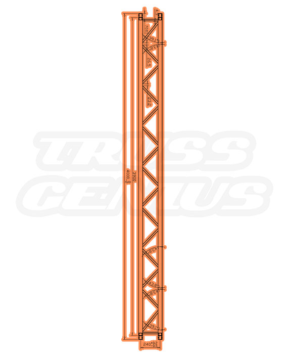 TR-4083 Dimensions F33 Triangle Truss