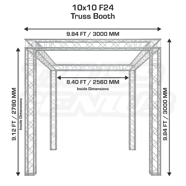 Exhibition Booth Standard Size : Foot trade show truss booth custom exhibit displays