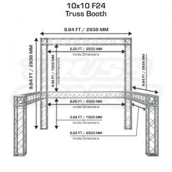 10 39 x 10 39 truss trade show booth modular f24 square for What is 10x10 in square feet