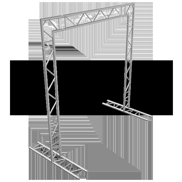10x10 F32 Truss Goal Post Side Profile Photo