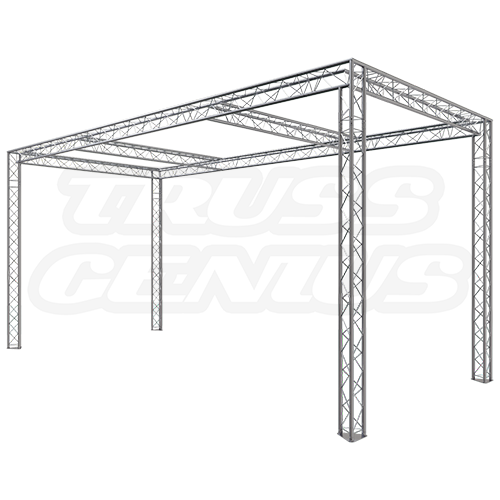 Trade Show Exhibit Display Booth 10×20 F23-202 Dual Center Beams