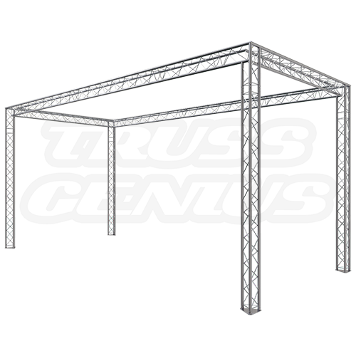 Trade Show Exhibit Display Booth 10x20 F23-202 Dual Center Beams Configuration 2