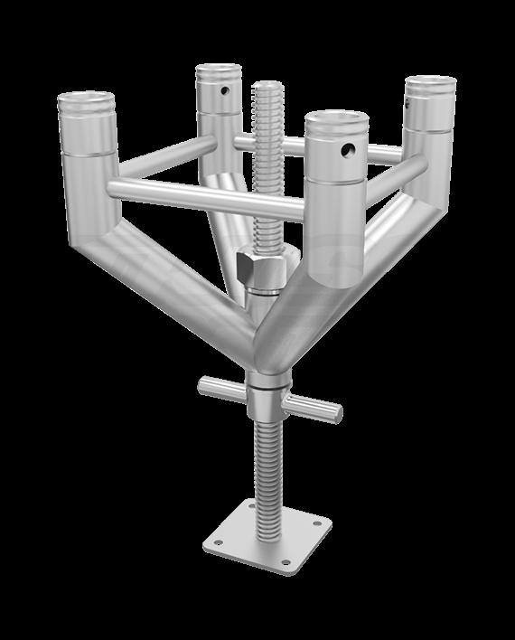 SQ-Uniped Adjustable Truss Leg for F34 Square Truss