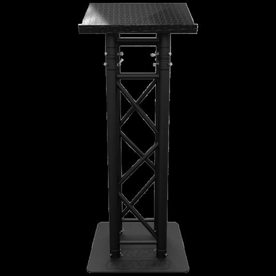 Matte Black Truss Lectern, Black Truss Podium, Black Truss Pulpit, Black Truss Presentation Furniture