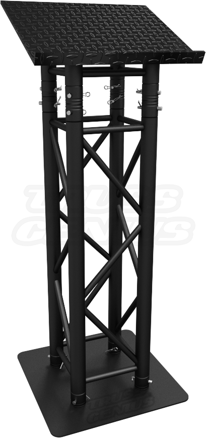 Matte Black Truss Lectern, Black Truss Pulpit, Black Truss Reading Stand