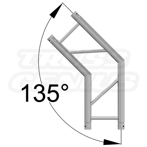 SQ-4123 135 Degree 2 Way Corner