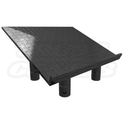 SQ 4137 TP Matte Black Lectern Diamond Plate Finish Top Plate For F34  Square Aluminum Truss, Stage Lighting Equipment