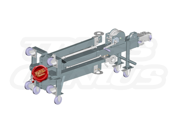 ST-180 Crank Stand Can Be Transported Horizontally (Rendered Image of Product)