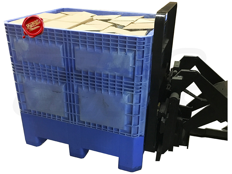 10x10 Truss Trade Show Booth Complete Kit With Collapsible Container On Forklift