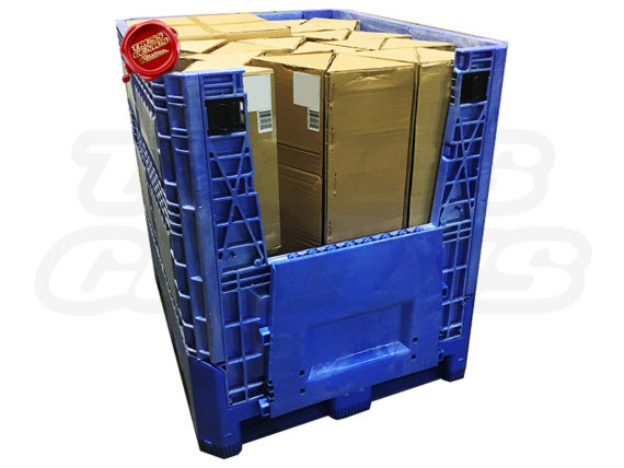 10x10 Truss Trade Show Booth Complete Kit With Collapsible Container Opened Lid