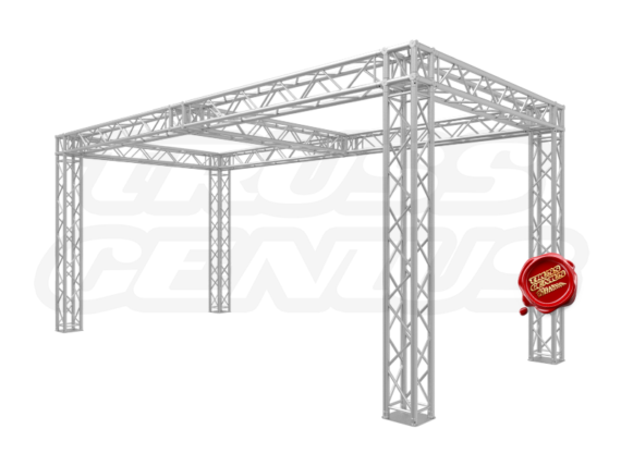 10x20 Truss Trade Show Booth with Center Beam Configuration