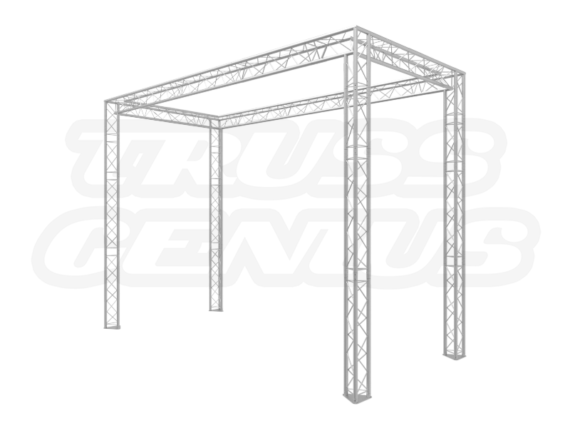 13x6 Truss Trade Show Booth Complete Kit With Collapsible Container