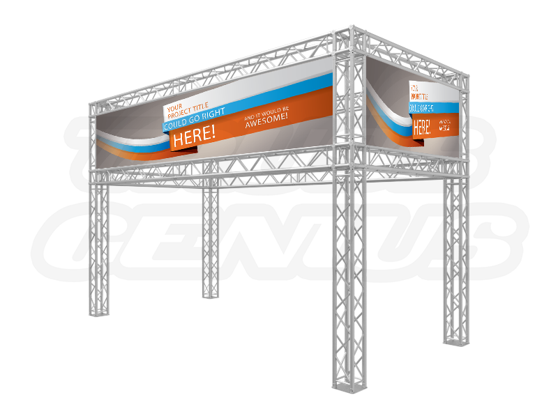 20-Foot Truss Trade Show Booth with Banner Openings