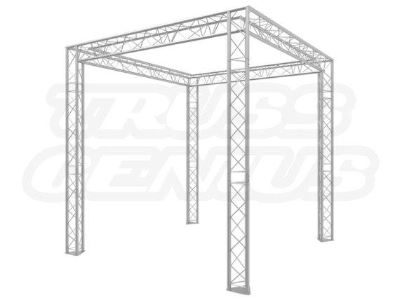 8X8 Truss Trade Show Booth Complete Kit With Collapsible Container