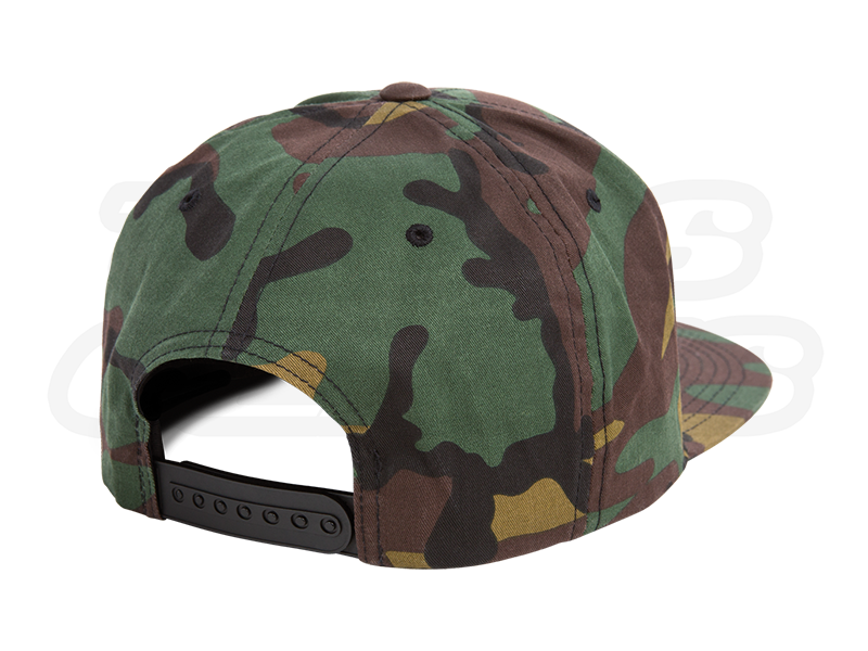 Camo Snapback Hat Backside