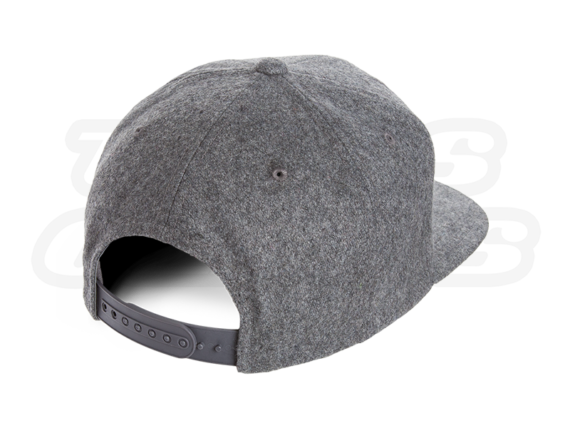 Heather Grey Snapback Hat Backside