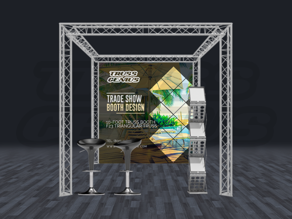 10x10 Truss Trade Show Booth Complete Kit With Collapsible