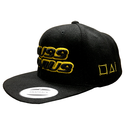Truss Genius Limited Edition Black and Gold Snapback Hat Side