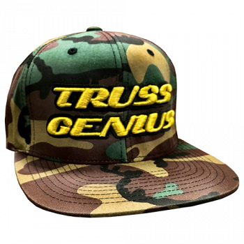 Truss Genius Limited Edition Camo Snapback Hat