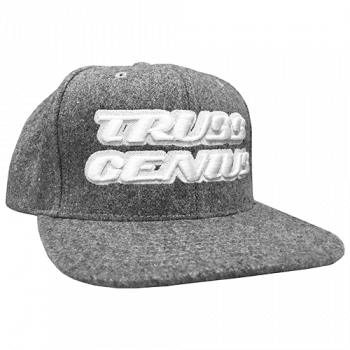 Truss Genius Limited Edition Heather Grey Snapback Hat