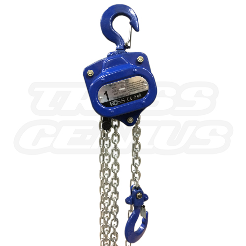 Manual Chain Hoist 1-Ton Weight Capacity 30-Foot Lift